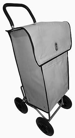 Carro para la distribución postal con bolsa de transporte impermeable gris