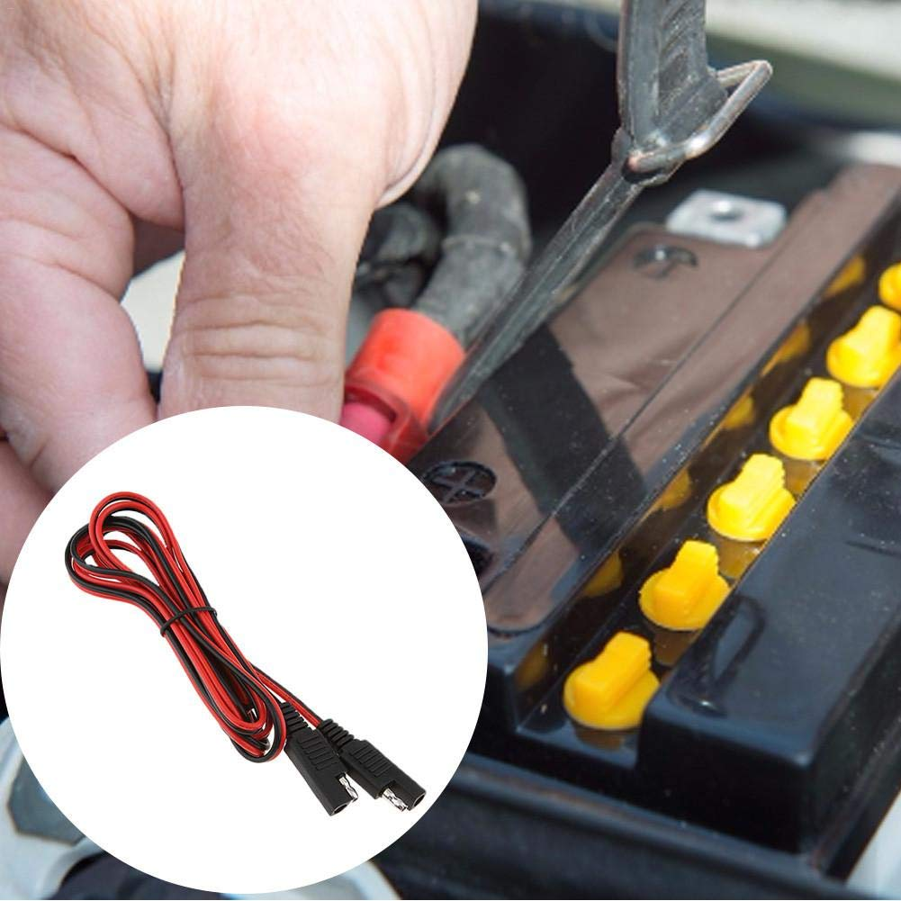 Welcometo Cables adaptadores de cobre para bater/ías solares Conector de polaridad SAE Cable de extensi/ón macho a hembra Conectores del panel solar Adaptador Cable 10A PV Cable para paneles masterwork