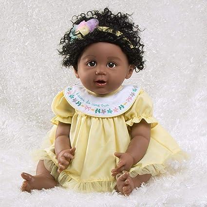 89a2ad2443d4 Amazon.com  Paradise Galleries African American Black Reborn Baby Doll  Rainbow Blessings  Faith