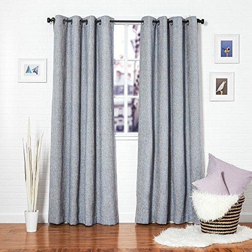 Homier Blue Linen Blend Window Curtain/drape/panel/treatment/covering - Grommet Top Panel (Prong Trellis Ring)