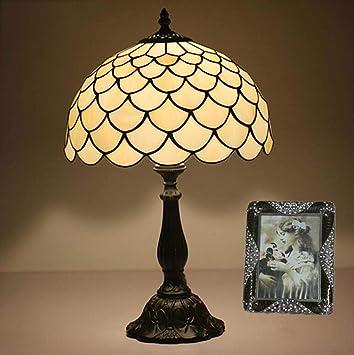 YDYG Lámparas de Mesa Estilo Tiffany de 12 Pulgadas, lámpara ...