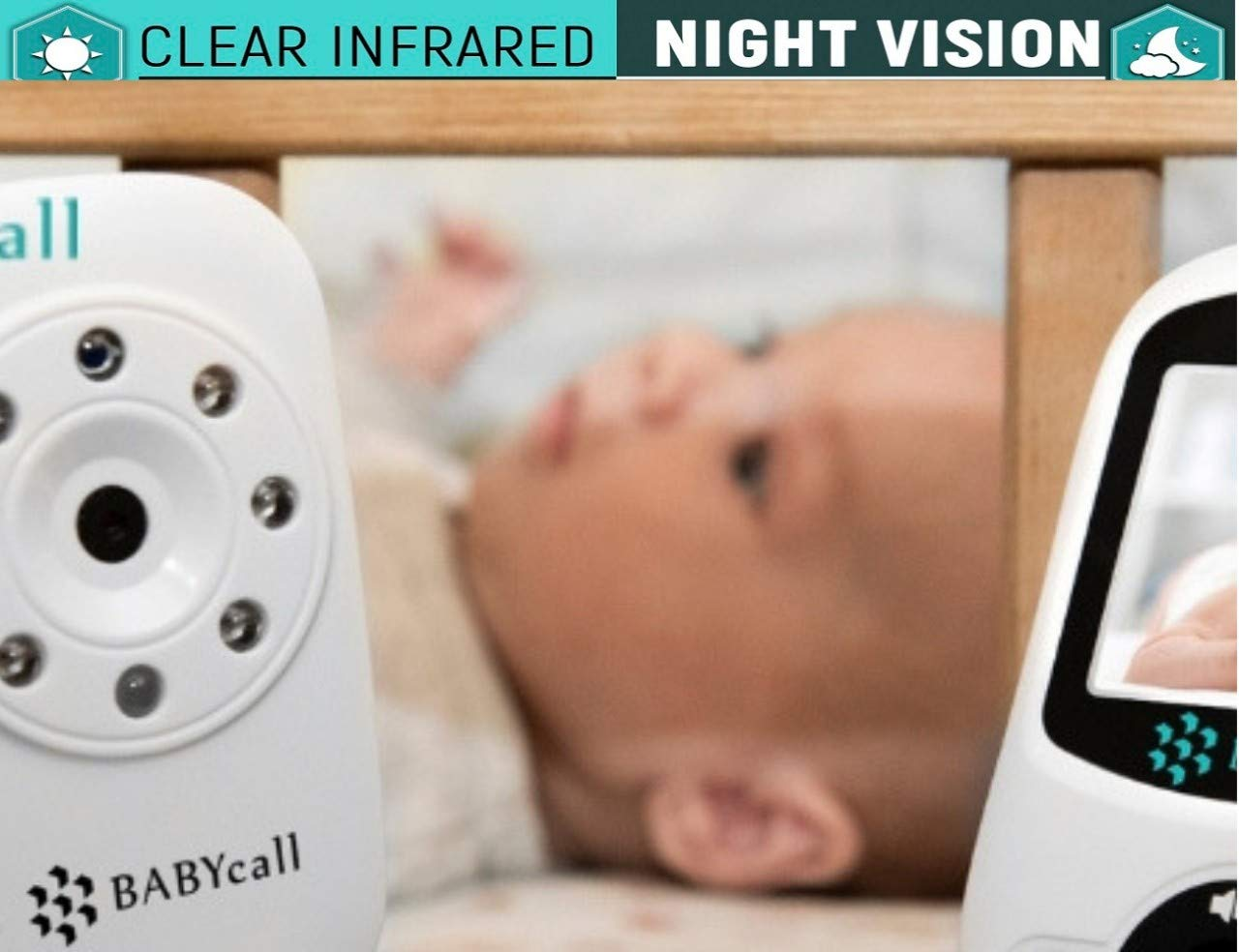 Video Baby Monitor with Camera - Upgrade 2019 Model of Monitoring System with Night Vision, Two Way Audio, Temperature detectors - Long Range Wireless Monitoring by BABYcall by BABYcall (Image #7)