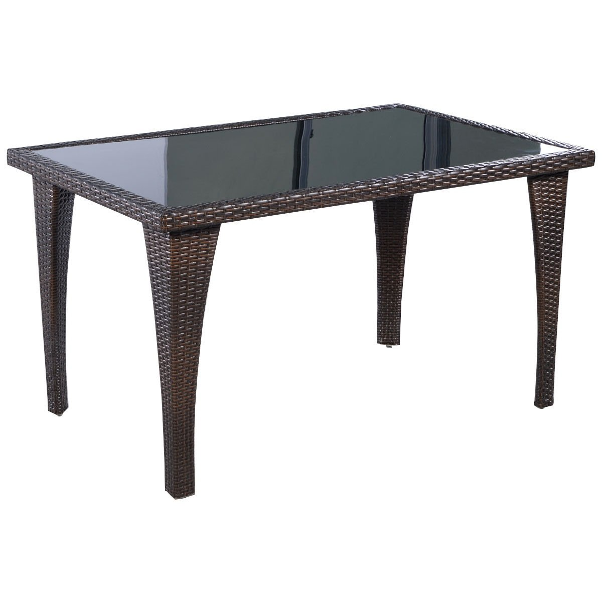 Pool Side Rectangle Rattan Patio Table