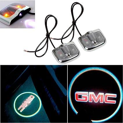 ff60c1f33de CHAMPLED for GMC Laser Projector Logo Illuminated Emblem Under Door Step  Courtesy Light Sticker No Drill