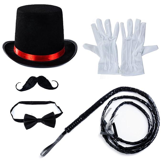 0fb603de18c0 Amazon.com: Tigerdoe Ringmaster Costume Accessories - Ringmaster Hat - 5  Accessories - Circus Party Supplies Black: Clothing