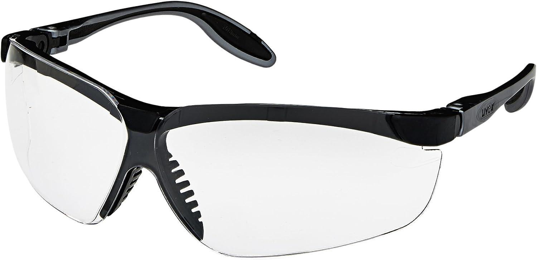 Uvex S3700X Genesis Slim Safety Eyewear, Pewter and Black Frame, Clear UV Extreme Anti-Fog Lens