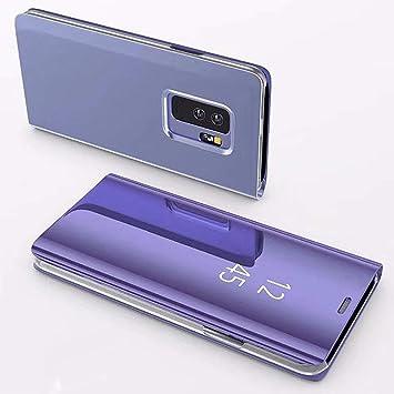 KunyFond Funda Compatible Samsung Galaxy Note 3 Carcasa Espejo Mirror Case Leather Billetera Frontal Trasera 360 Grado Cuero Estructura Wallet ...