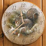 Cheap Gray Squirrel Round Clock by Rosemary Millette