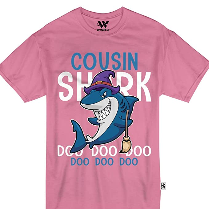 2e256094e Image Unavailable. Image not available for. Color: Cousin Shark Doo Doo  Halloween Witch Week Costume Funny Tshirt