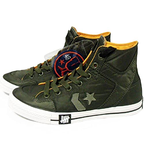 4a3449a214d4 Converse x Undefeated Men s Poorman Weapon Hi Olive Green White Orange -8.5