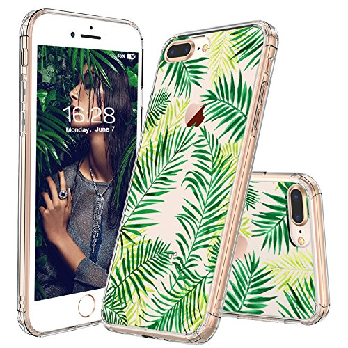 iPhone 8 Plus Case, iPhone 7 Plus Case, Fashion iPhone 7 Plus Case, MOSNOVO Tropical Palm Leaves Clear Design Printed Case with TPU Bumper Case Cover for iPhone 7 Plus (2016)/iPhone 8 Plus (2017)