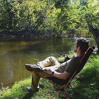 G4Free Silla de Camping Ligera Sillas de Sal/ón de Campamento de Respaldo Alto Plegables al Aire Libre con Reposacabezas para Picnic Playa Senderismo Pesca 2PC