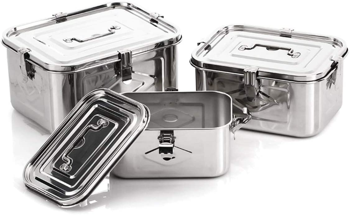 Stainless Steel Rectangular Food Storage Container (3Set)