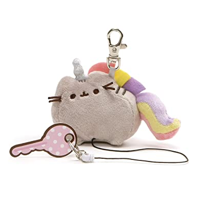 "GUND Pusheenicorn Cat Stuffed Animal Plush Retractable Keychain, Gray, 3"": Toys & Games"
