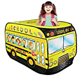 Liberty Imports Kids Pop Up Play Tent   Foldable Indoor/Outdoor Playhouse for Toddlers, Boys and Girls (School Bus)