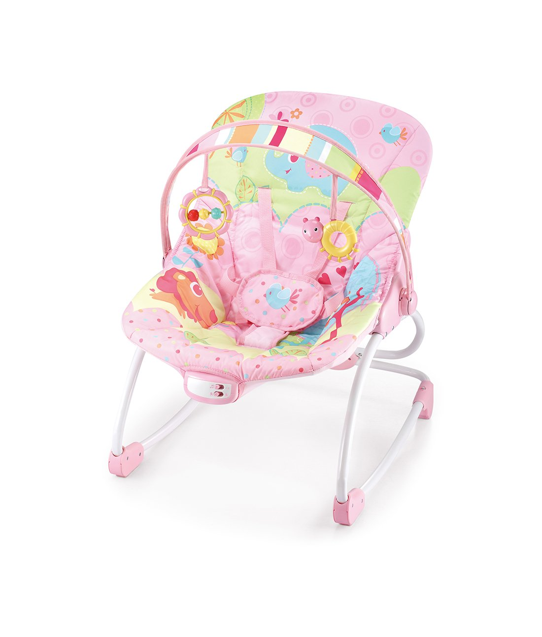 Cute Baby - Pink Animal Forest Rocker - Recline Vibrating & Musical(6903) Cutebaby