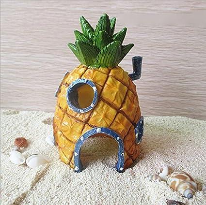 Op.h Casa de piña para decoración de acuario, decoración de peces y camarones