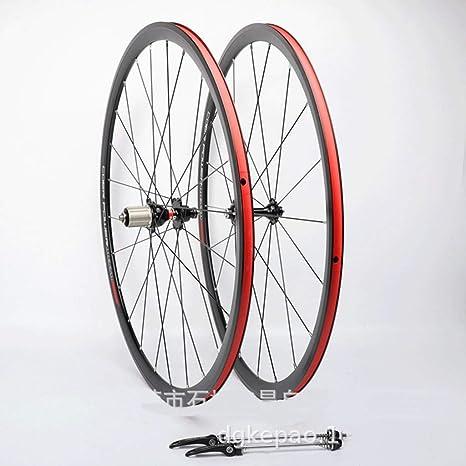 MZPWJD Rueda Bicicleta 700c CX Juego Ruedas Bicicleta Carretera Llanta Aleación Doble Pared 30mm QR Rodamiento Sellado para Tarjeta Hub 8-11 Velocidad 1550g (Color : Black): Amazon.es: Deportes y aire libre