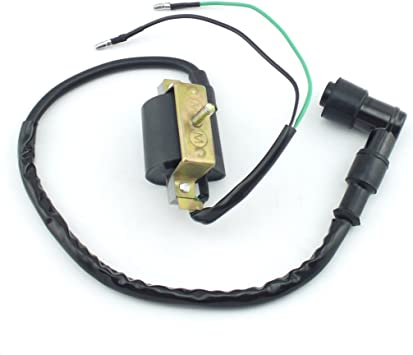 Yingshop 2-Wire Ignition Coil HT Lead Cap for 50cc 70cc 90cc 110cc 125cc 4-stroke ATV Pit Dirt Bike Go Kart Quad Buggy Chinese XR50 CRF50 Clones