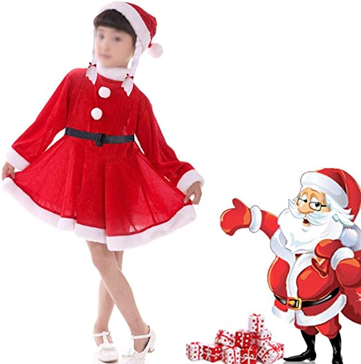 Disfraz de la Sra. Claus para niña Disfraz de Papá Noel para niña ...