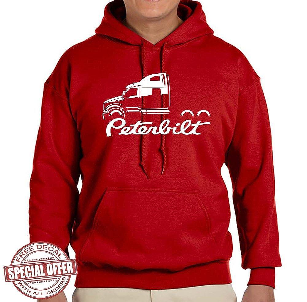 Peterbilt 587 Truck Classic Outline Design Hoodie Sweatshirt