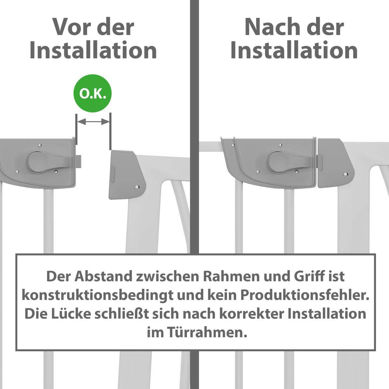 Froggy Türschutzgitter 75-83cm inkl. Verlängerung Absperrgitter ...
