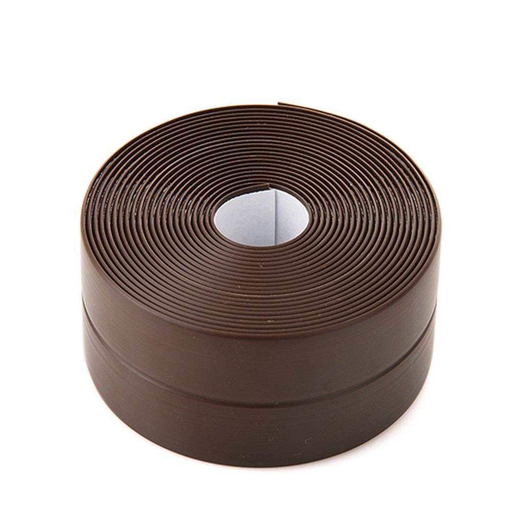 kxtffeect 1roll mildew-proofアクリル接着剤防水シンク盆地浴槽トイレ便座ベースギャップの切断可能な折りたたみPVC BroadingバンパーCaulkストリップ、126