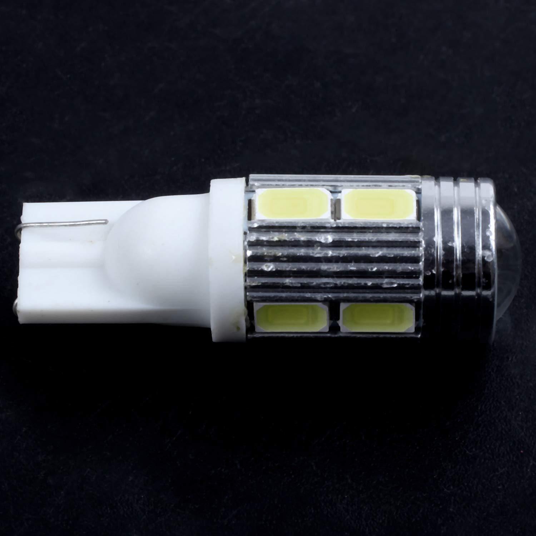 WOVELOT T15 Voiture Ampoule W16W Lumiere de Freinage 8pcs 5630 LED Blanc Pur 6500K CREE LED 10W 500LM DC 12V