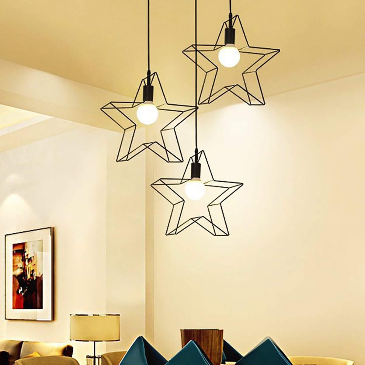 LED Lampen Elektroinstallation Shishanyun Moderne Lampen Schmiedeeisen LED  Kronleuchter Wohnzimmer Schlafzimmer Küche Lampe Fünfzackigen Sterne  Kronleuchter ...
