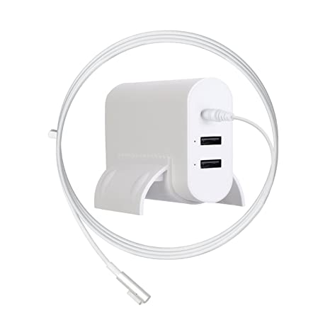 MacBook Air Charger, Ponkor 45W Magsafe L-tip Replacement Power Charger with 2-Port USB for Apple Mac Book Air 11 inch and 13 inch