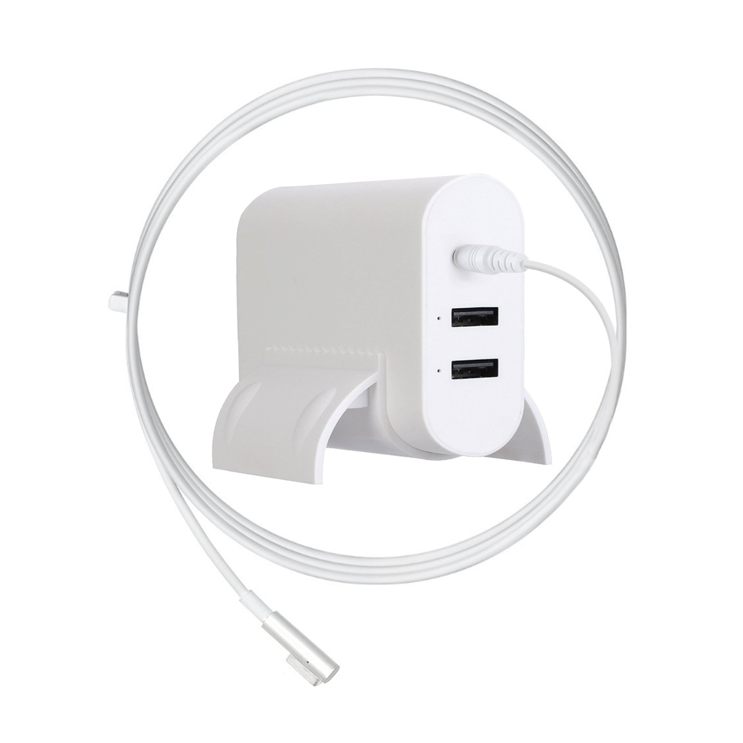 MacBook Pro Charger, Ponkor 85W Magsafe L-tip Power Adaptor Charger with 2-Port USB for Apple Mac Book Pro 15 inch and 17 inch