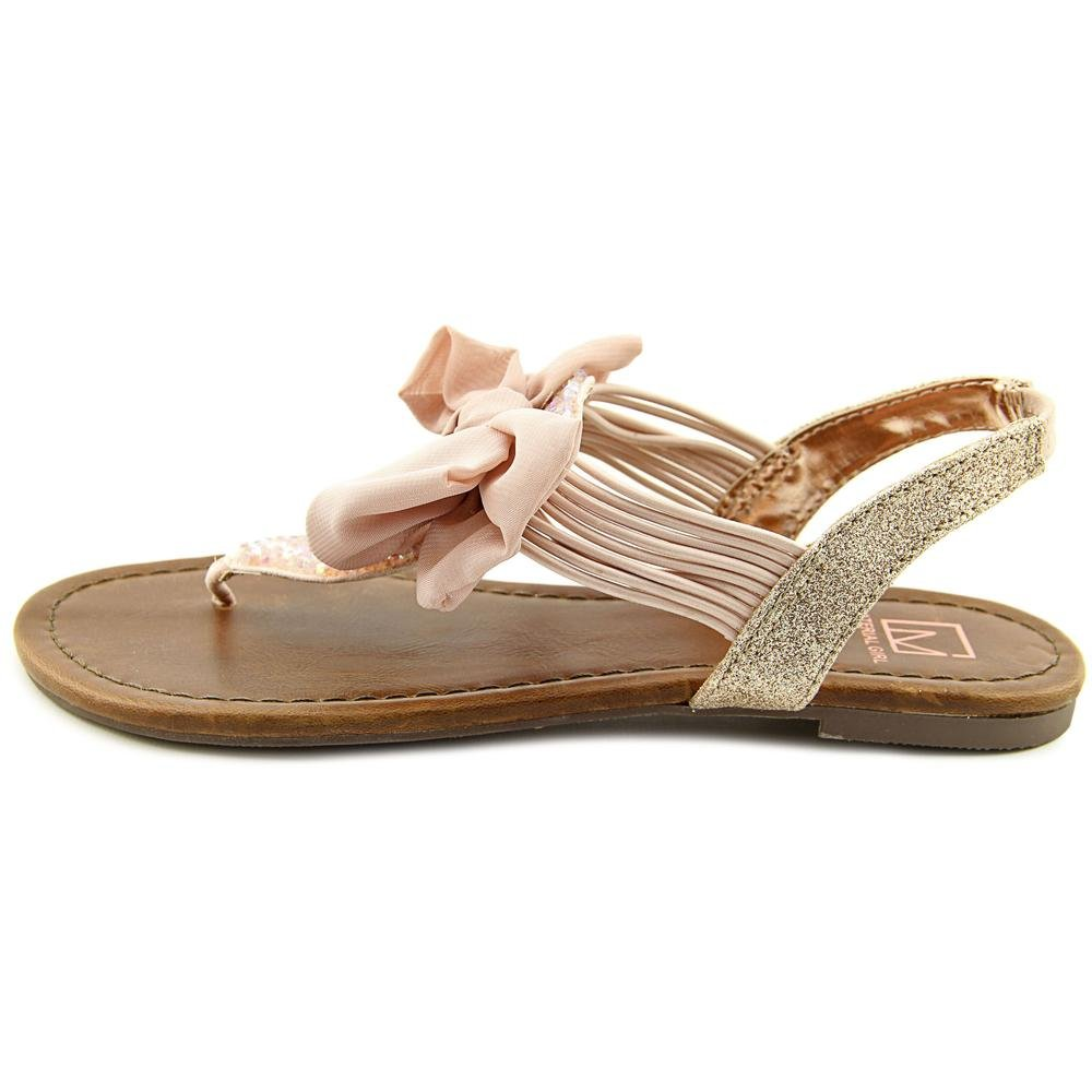 Material Girl Womens Swan1 Open Toe Special Occasion Slingback Sandals B079FYVPHQ 7.5 B(M) US|Blush
