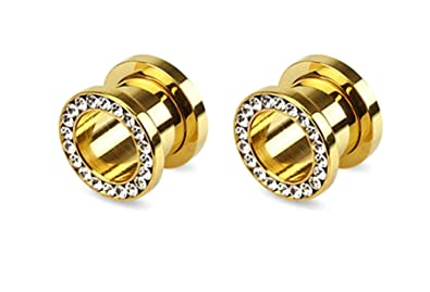 Amazoncom Hypoallergenic Surgical Steel Gold Plated 120 Mm Ear
