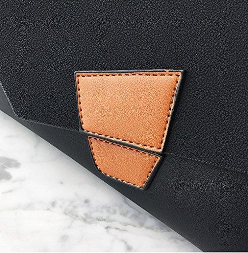 sacs bandoulière noir Bleu couleur à Sac pour sauvage de à femme Frappé poignée bandoulière main haut filles Sacs TO5UqawU
