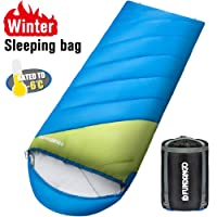Fundango Sleeping Bag for Adult 4 Season Camping Bags Warm Lightweight Sleeping Bags Cold Weather for Indoor or Traveling, Hiking, Outdoor Activities under Extreme (20F/-6C) Weather