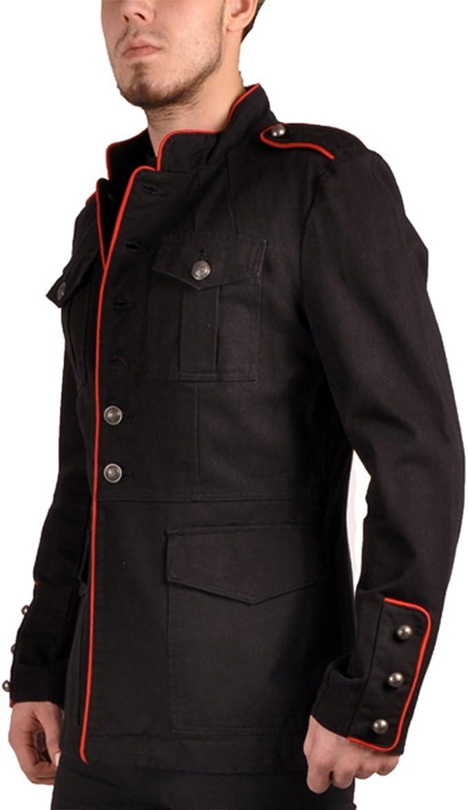 Tripp NYC Veste militaire pour homme Noirrouge style