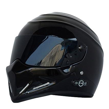 JPFCAK Casco Integral De Motocicleta, Casco, Otoño E Invierno, Cálido, Kart,