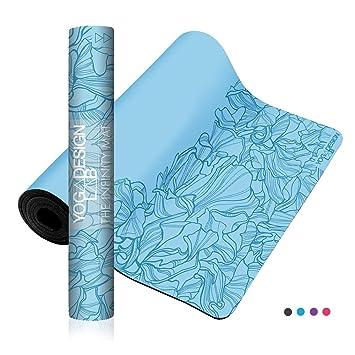 Yoga Design Lab | Esterilla Infinity | Textura y diseño Antideslizante para Alinear y apoyar su práctica. | Ecológica | 5mm | Acolchada | Incluye ...