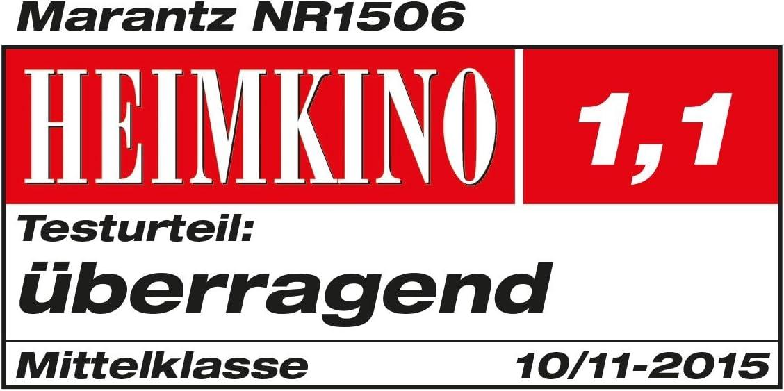Telaio di Altezza Ridotta Wi-Fi Marantz NR1506 Sintoamplificatore Home Cinema 5.1 5 x 85 Watt Argento//Oro
