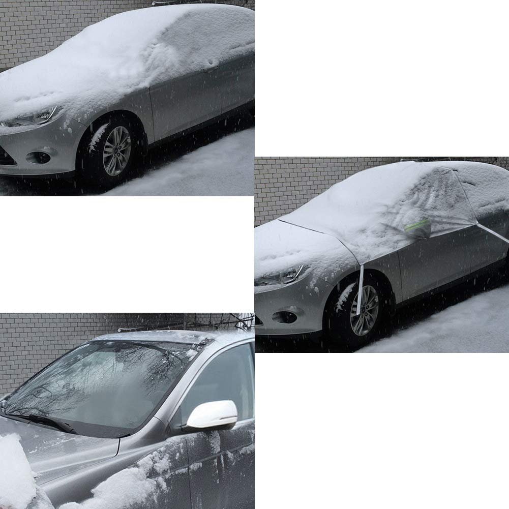 COFIT Car Windshield Snow Cover Ice and Frost Protector with Mirror Covers Universal Fit for Van Sedan Truck Windscreen Sunshade