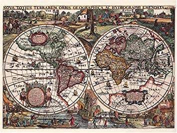 Ravensburger historic world map 1636 1500 piece jigsaw puzzle ravensburger historic world map 1636 1500 piece jigsaw puzzle gumiabroncs Choice Image
