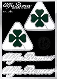 Alfa Romeo 21812 Official Stickers 2 Clover Sheets and 2 Letters, 94 x 131 mm