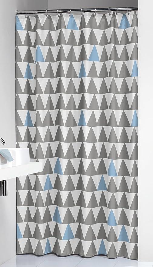 Sealskin Nordic Light Blue Peva Shower Curtain Grey 210921320 200