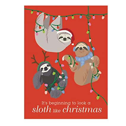 Christmas Sloth.Amazon Com It S Beginning To Look A Sloth Like Christmas