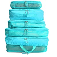 OZSTOCK 5pcs Packing Cube Pouch Suitcase Clothes Storage Bags Travel Luggage Organizer