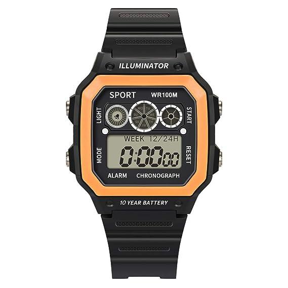 BBestseller Digital Reloj Deportivo,Moda Relojes de Pulsera para Hombres Deportivos LED Reloj de Pulsera Impermeable Watch (Cielo Azul): Amazon.es: Relojes