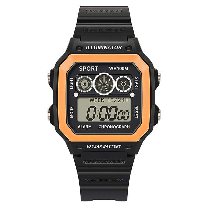 BBestseller Digital Reloj Deportivo,Moda Relojes de Pulsera para Hombres Deportivos LED Reloj de Pulsera Impermeable Watch (Negro): Amazon.es: Relojes