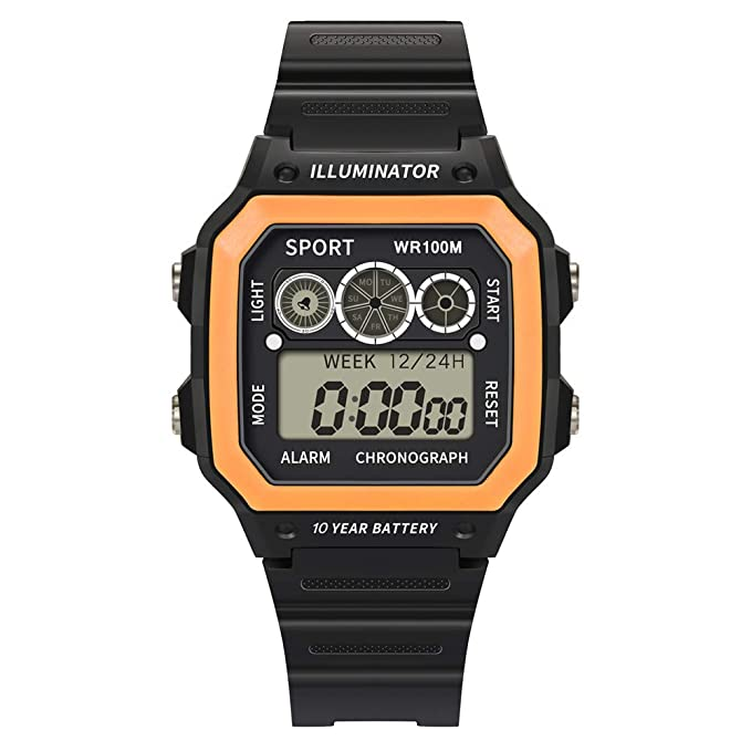 BBestseller Digital Reloj Deportivo,Moda Relojes de Pulsera para Hombres Deportivos LED Reloj de Pulsera Impermeable Watch (Amarillo): Amazon.es: Ropa y ...