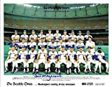 Bill Mazeroski Signed Autographed 1980 Seattle Mariners 8x10 Team Photo - COA - Near Mint Condition
