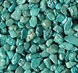 """Safe & Non-Toxic {Small Size, 0.12"""" Inch} 10 Pound Bag of Gravel & Pebbles Decor Made of Genuine Quartz for Freshwater Aquarium w/Vibrant Creative Rustic Modern Simple Shimmering Style [Turquoise]"""